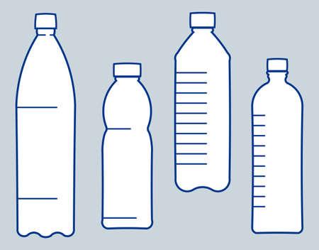 Plastic bottles. Vector illustration Vector