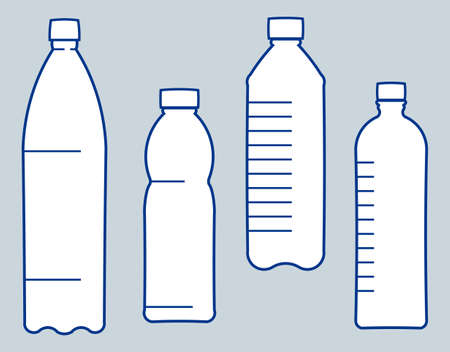 plastic bottle: Plastic bottles. Vector illustration