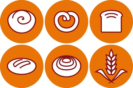 Vector bakery products illustration - pastry and bread Stock Vector - 9667596