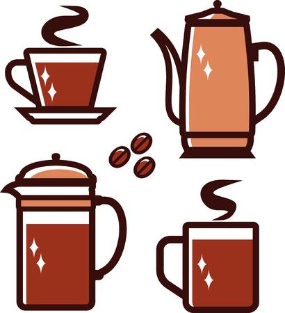 coffeepot: Coffee time (Vector illustration)