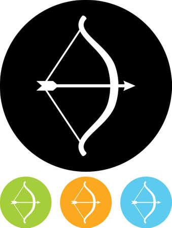 boogschutter: Pijl en Boog - Vector pictogram geïsoleerde Stock Illustratie
