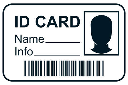 blank faces: ID card member pass