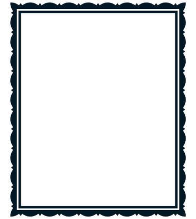 photo album page: Frame vector vintage. Menu page elegant border.