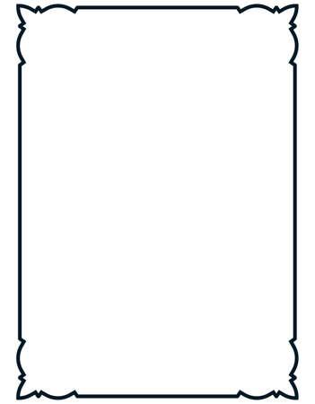 rectangles: Frame vector vintage. Menu page elegant border.