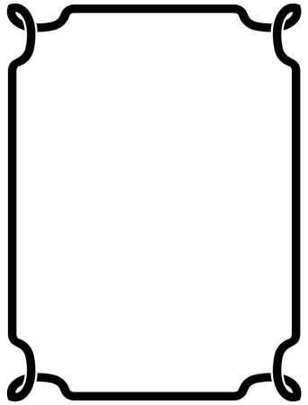 simple border: Frame vintage border blackboard vector isolated simple