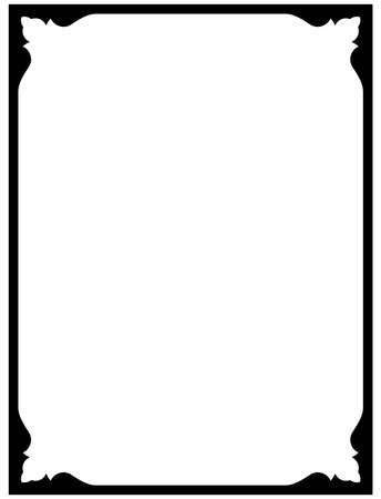 bordes decorativos: Marco de la vendimia del vector pizarra frontera aislado sencilla