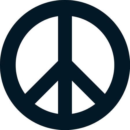 simbolo paz: Pacifismo paz símbolo vector aislado en blanco