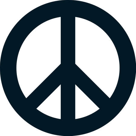 Peace pacifism sign symbol vector isolated on white Illustration