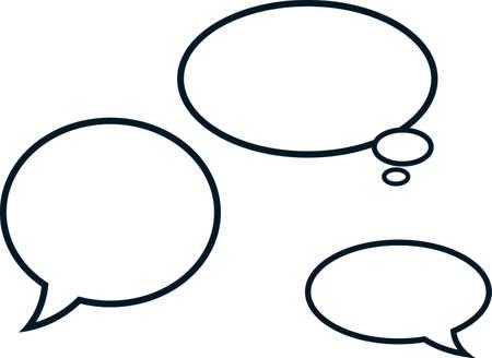 globo: Burbujas del discurso aislada historietas nubes ilustraci�n vectorial