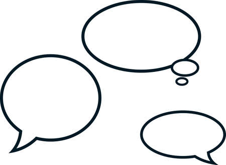 Speech bubbles comic clouds vector illustration isolated Illustration