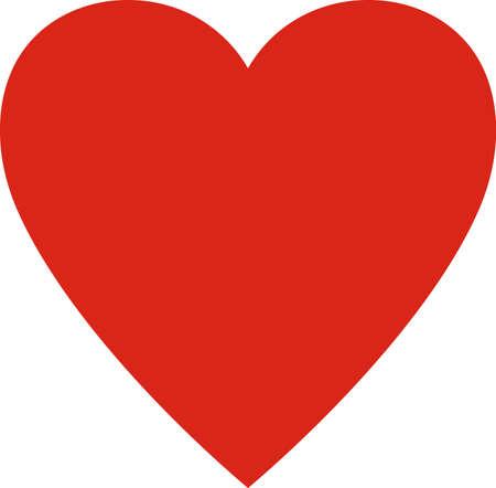 rot: Valentinstag. Herz Valentine einfache Vektor-Illustration isoliert. Liebessymbol