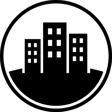 estate planning: City vector icon Illustration
