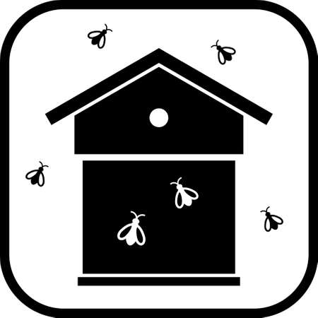 icon vector: Beehive vector icon isolated