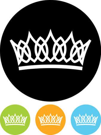 corona de reina: aislado corona del vector Vectores