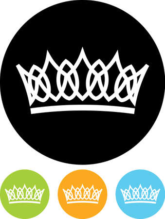 beauty queen: Crown vector isolated Illustration