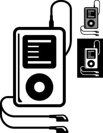 mp3: MP3 music player Vector Illustration