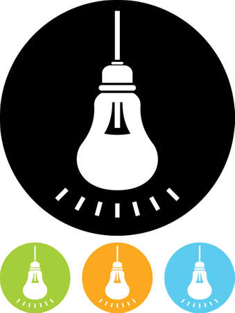 energy buttons: Lightbulb shining - Vector icon
