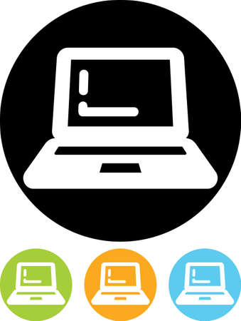 netbook: Laptop computer - Vector icon isolated