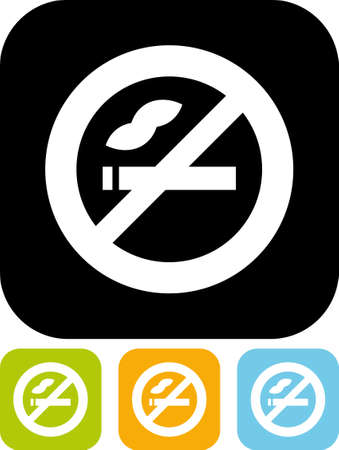 smoking a cigar: Vector icon isolated - No smoking Illustration