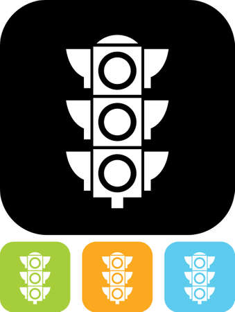 traffic signal: señal de semáforo - icono del vector aislado