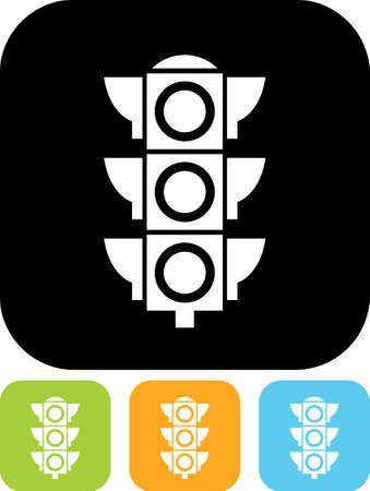 street light: Traffic light signal - Vector icon isolated Illustration