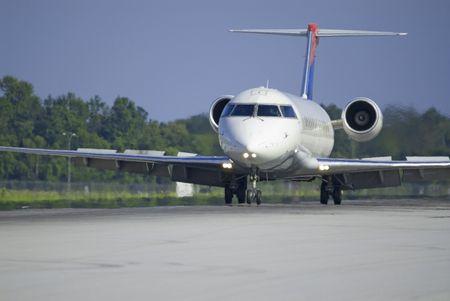 civilian: jet aircraft on runway