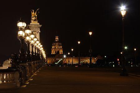 alexandre: Bridge Alexandre III by night - Paris - France