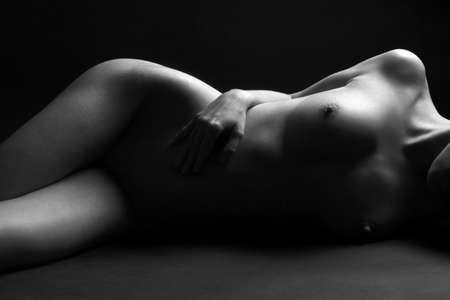 desnudo artistico: Cuerpo desnudo de una mujer Foto de archivo