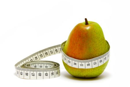 Pear with meter-measure