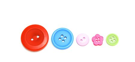 Five colorful buttons.