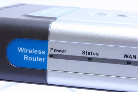 isdn: Wireless router with antenna.