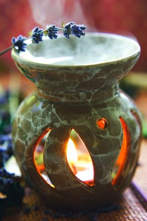 burner: SPA composition with lavender oil.