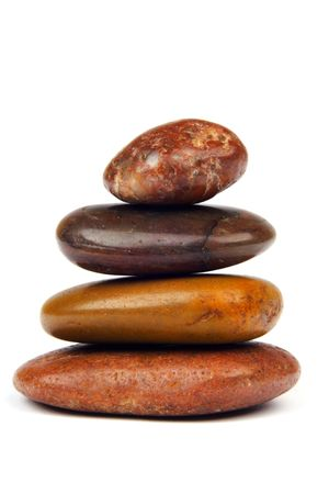 SPA elements: polished stones cairn.