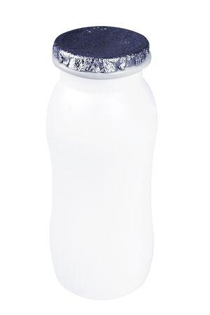 Bottle of dairy produce (milk or yoghurt) Stock Photo