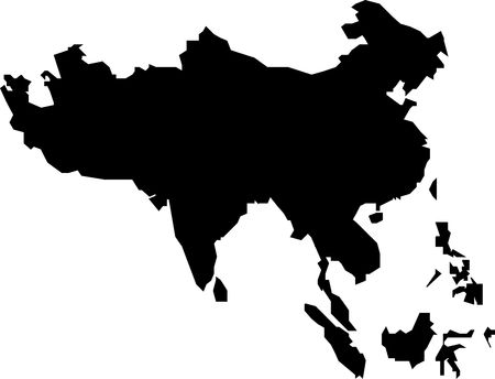 Map of Southern Asia, Black photo