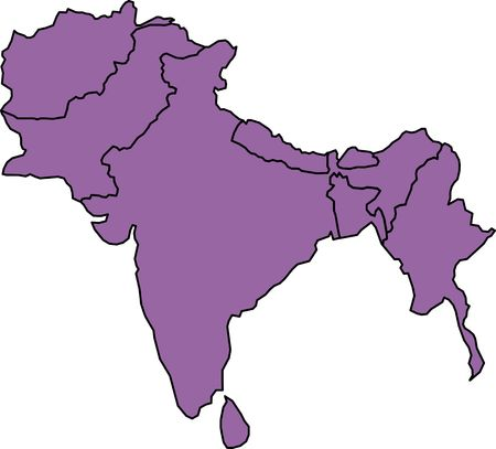 it's: India and its neighbourhood map