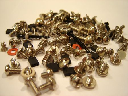 clincher: Picture of screws and  bolts