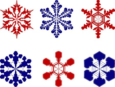 Different snowflakes Stock Photo - 399734