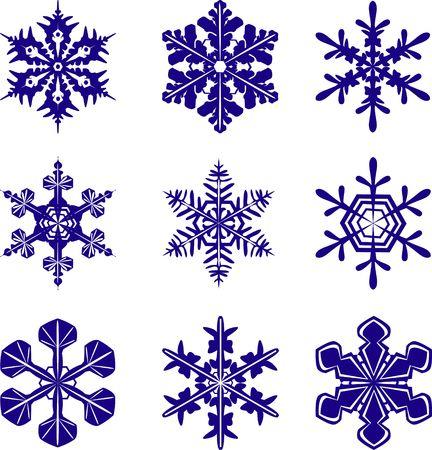 Snowflakes of different design