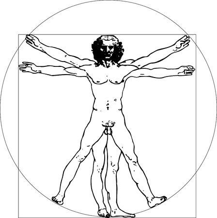 Da Vinci men Stock Photo - 409120