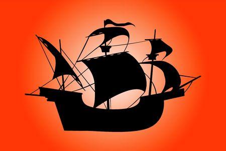 Ship silhouette Stock Photo - 421336