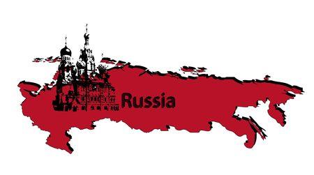 russland karte: Russland Karte Lizenzfreie Bilder