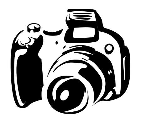 photo camera: Macchina fotografica della foto
