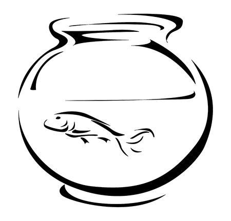 hermits: Fish tank Stock Photo