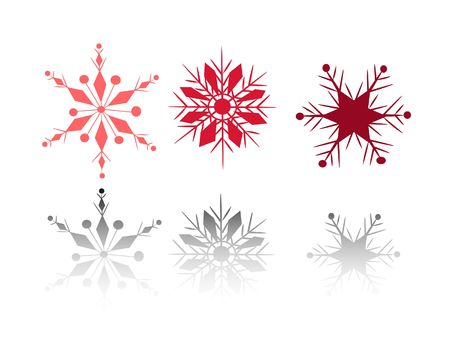 Set of 3 snow flakes Stock Photo - 1779409