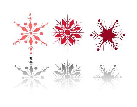 Set of 3 snow flakes Stock Photo - 1779409