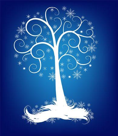 Blue christmas tree Stock Photo - 1779391