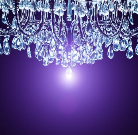 candelabra: Vintage crystal lamp