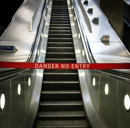 out of order: Escalator out of order