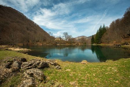 Bethmale lake view, France  photo